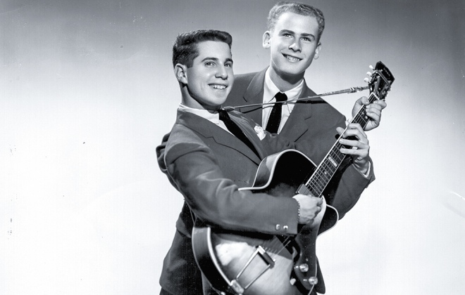 Paul Simon i Art Garfunkel w 1957 r.
