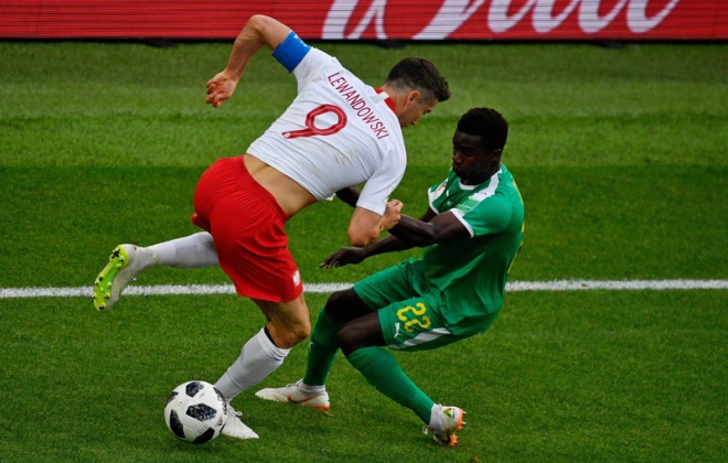 Polska-Senegal, Moskwa, 19 czerwca 2018 r. / Fot. Alexander Nemenov / AFP Photo / East News